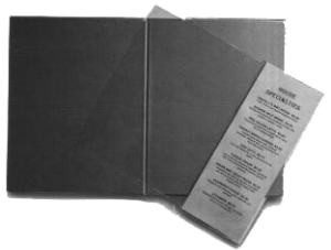 Add a page menu inserts for restaurant menu covers