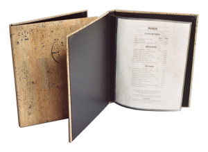 Wine List Covers available to match any of our Restaurant Menu Covers