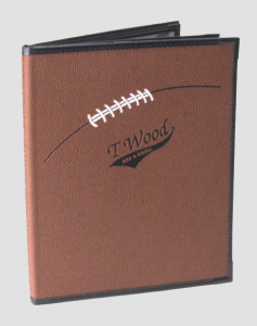 Sports Bar Menu Cover in Football material